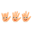 Funny palm hand vector image vector image