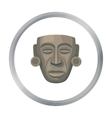 Mayan mask icon in cartoon style isolated on white vector image vector image