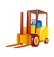 icon forklift vector image