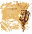 Music vintage background vector image