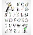 3D Shiny Explosion Alphabet vector image vector image