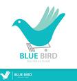Blue birdjpg vector image vector image