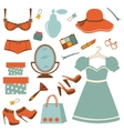 Fashion elements collection vector image vector image