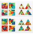 Flat design geometric info banners web boxes vector image