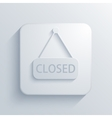 modern closed light icon vector image vector image