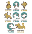 dogs logo vector image