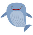 blue whale on white background vector image
