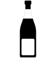 Champagne Bottle Tag vector image