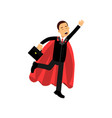 cheerful male character with briefcase and vector image