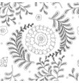 elegance seamless pattern with flowers for vector image