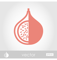 Fig outline icon Tropical fruit vector image
