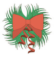 opaque color ornament decorative pine arch with vector image