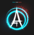 Pray for Paris Peace Lighting effects in flag vector image