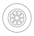 Slice of lemon line icon vector image