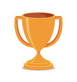 trophy cup flat vector image