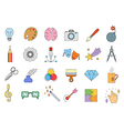 Art colorful icons set vector image vector image