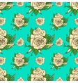 seamless pattern with white roses vector image