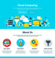 cloud computing web design vector image vector image