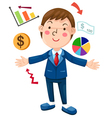 man presentation chart business vector image vector image