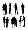 Set of Silhouette People vector image vector image