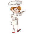 A simple chef vector image vector image