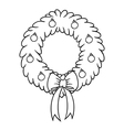 Christmas wreath cartoon vector image