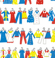 Clothes seamless pattern for tailor shop or vector image