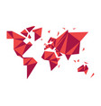 abstract low poly world map modern concept shape vector image