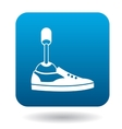 Leg prosthesis icon in simple style vector image