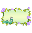 A caterpillar and a flower plant vector image vector image