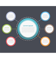 Circle Diagram with Six Elements vector image vector image