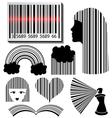Bar code set vector image