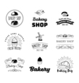 set of bakery and bread logos labels badges and vector image vector image