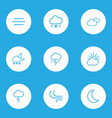weather outlines set collection of lightning vector image