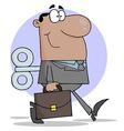 Happy African American Businessman vector image vector image