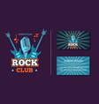 Vintage rock music club logo emblem badge vector image