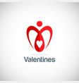 heart love valentine logo vector image