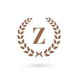 Letter Z laurel wreath logo icon design template vector image