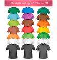 shirt set vector image