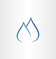 drops of water gas flame icon vector image