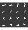 Arrow icon set 4 monochrome vector image