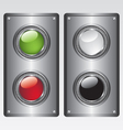 Buttons and metal plate vector image vector image