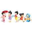 Asian girls vector image