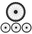 bicycle wheel isolated on white vector image