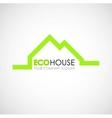 Eco house logo design Ecological construction vector image