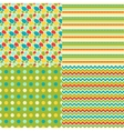 Happy Easter set of seamless patterns vector image