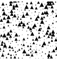Seamless black white abstract pattern Memphis vector image