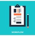 workflow vector image