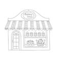 Bakery shop building vector image
