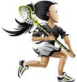 Lacrosse girl vector image vector image